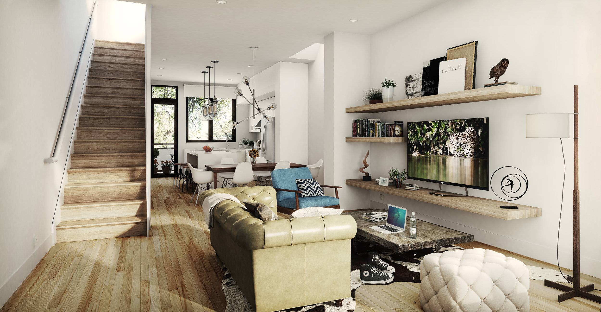 Interior Unit Living Room (Actual Delivered Residence May Differ from Rendering)