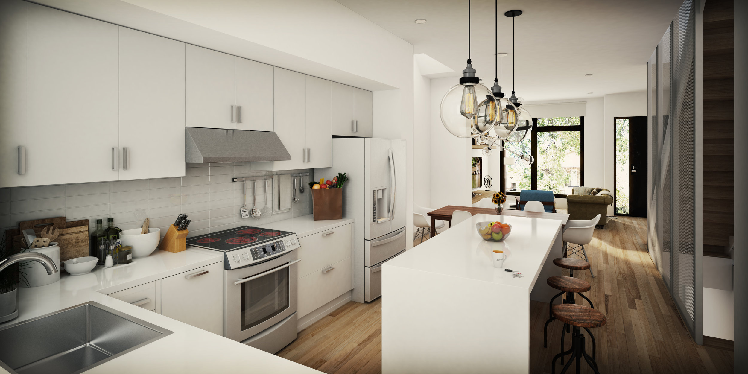 Interior Unit Kitchen (Actual Delivered Residence May Differ from Rendering)