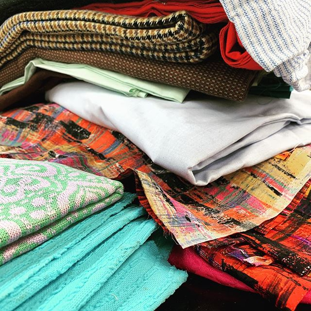 We are sorting fabric today for our Bags for Books Program! You can send us fabric at:  2100 RIVERSIDE PARKWAY SUITE 128 B186 LAWRENCEVILLE, GA 30043