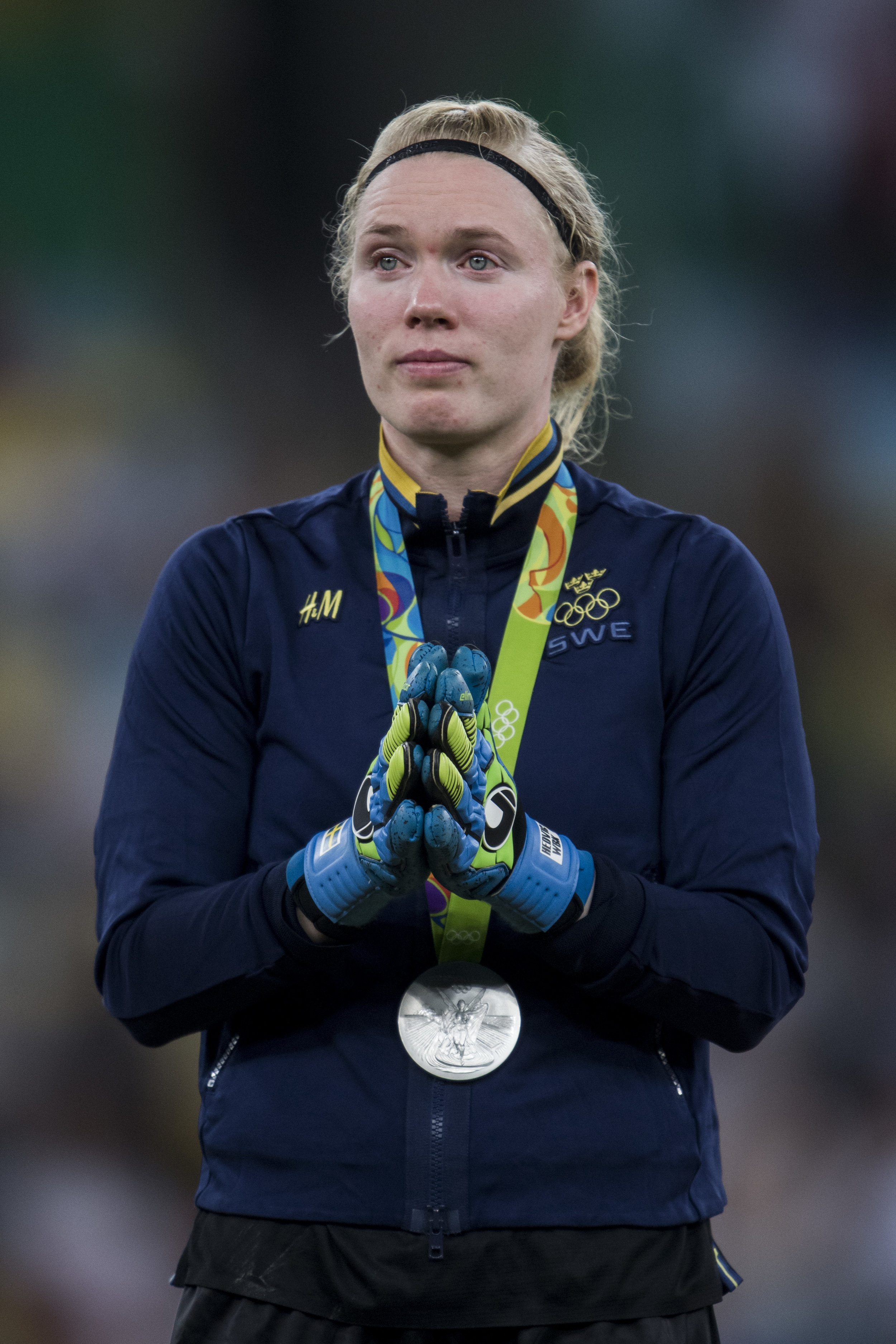 Me and the Swedish team won a silver medal at the Rio Olympics 2016. Pic by Bildbyrån.se