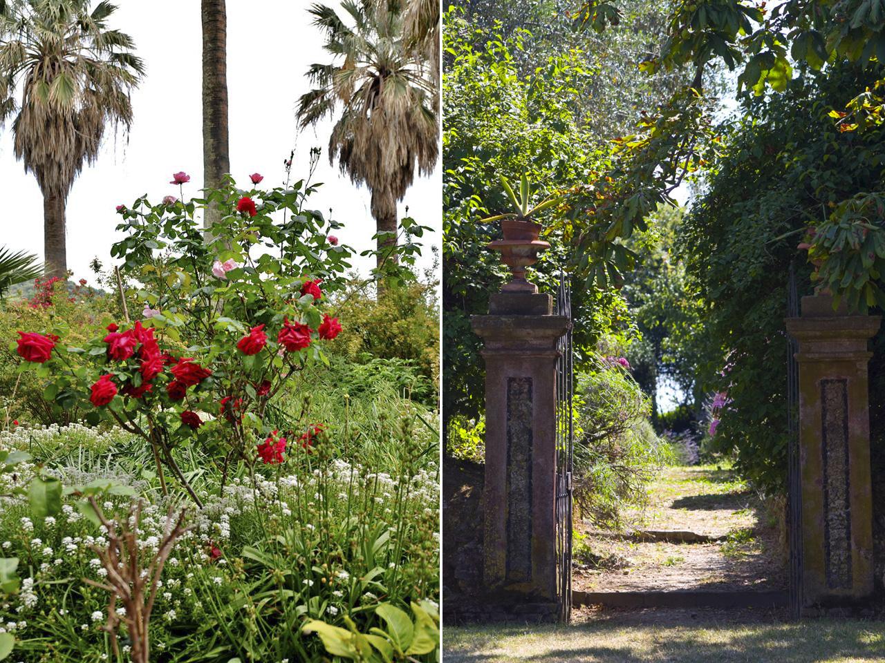 Nei giardini ci sono anche percorsi botanici.