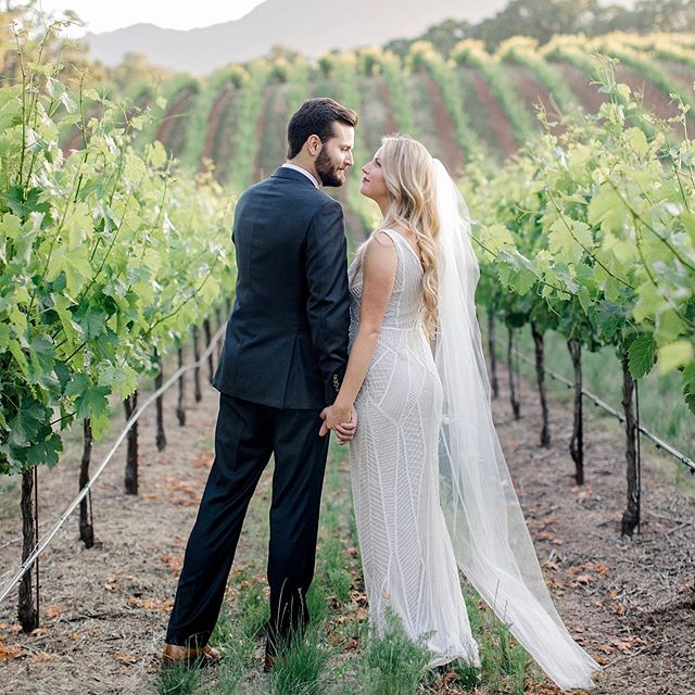 Here's a little sneak peek from Ashley & Jeff's gorgeous wedding at @brcohn winery 💕