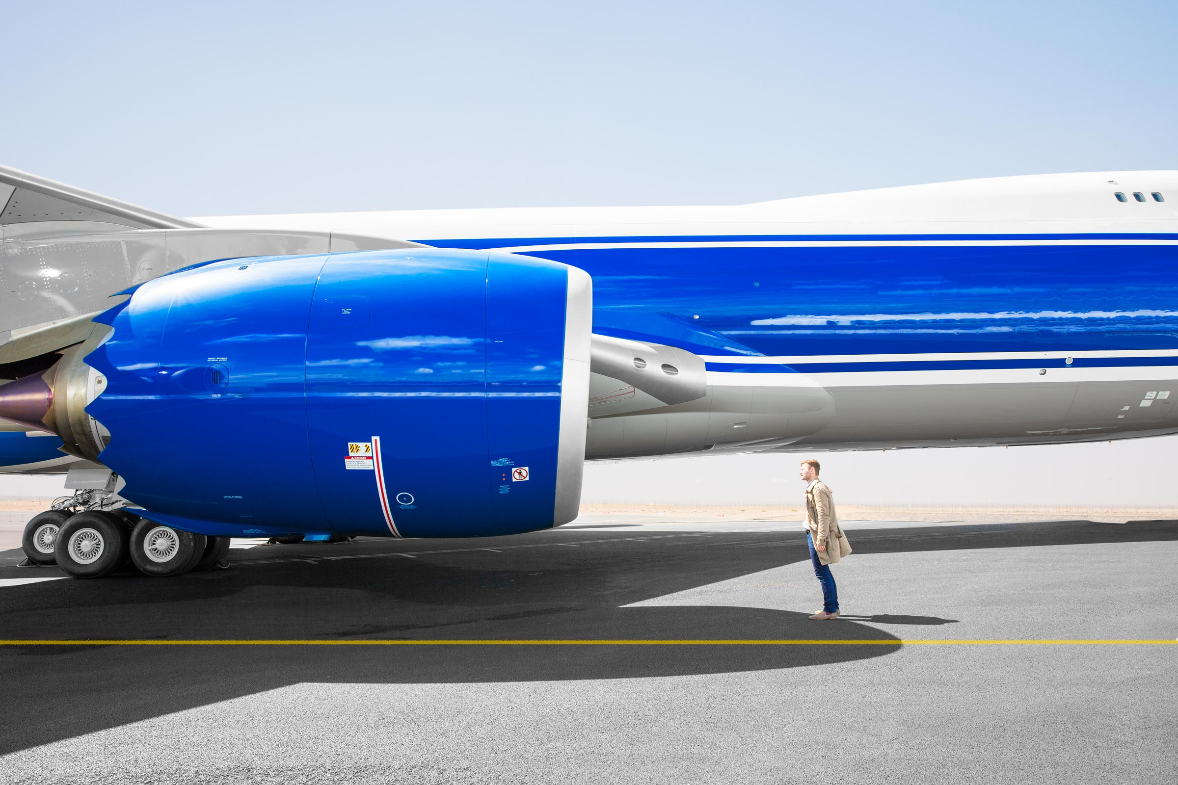 Wired , client  747-8, Farnborough Airshow  Farnborough, UK