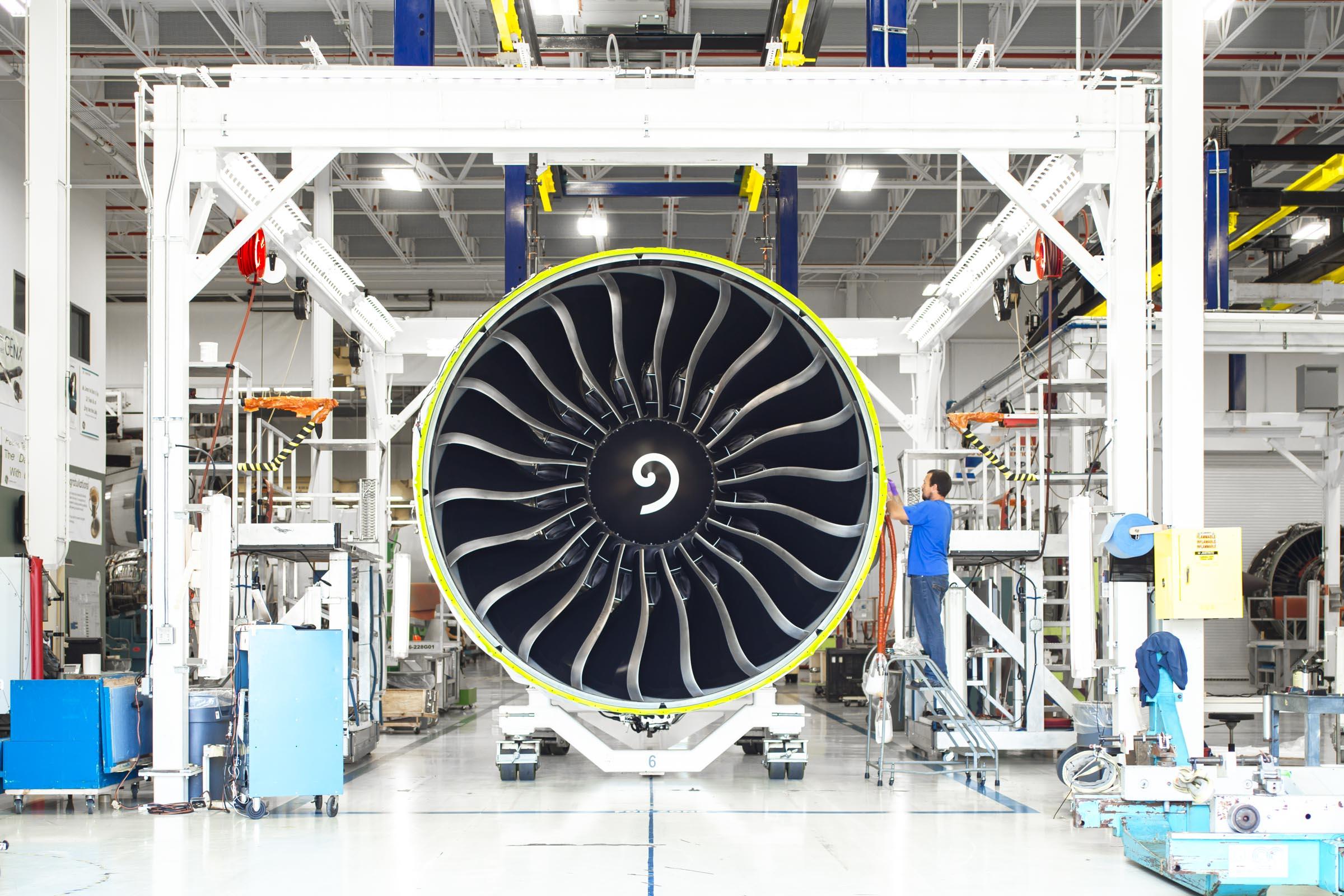 GE 90 jet engine, Peebles MRO, Peebles, OH