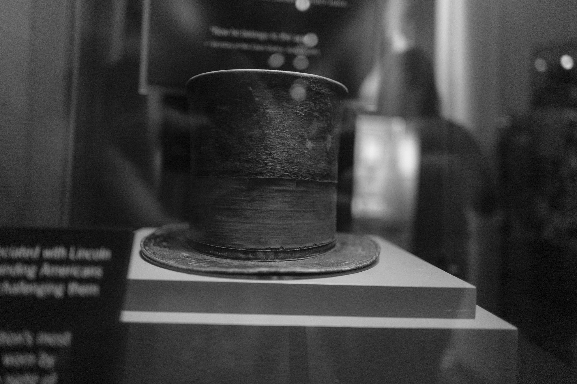 Lincoln's hat when shot  Sun 14:33:15
