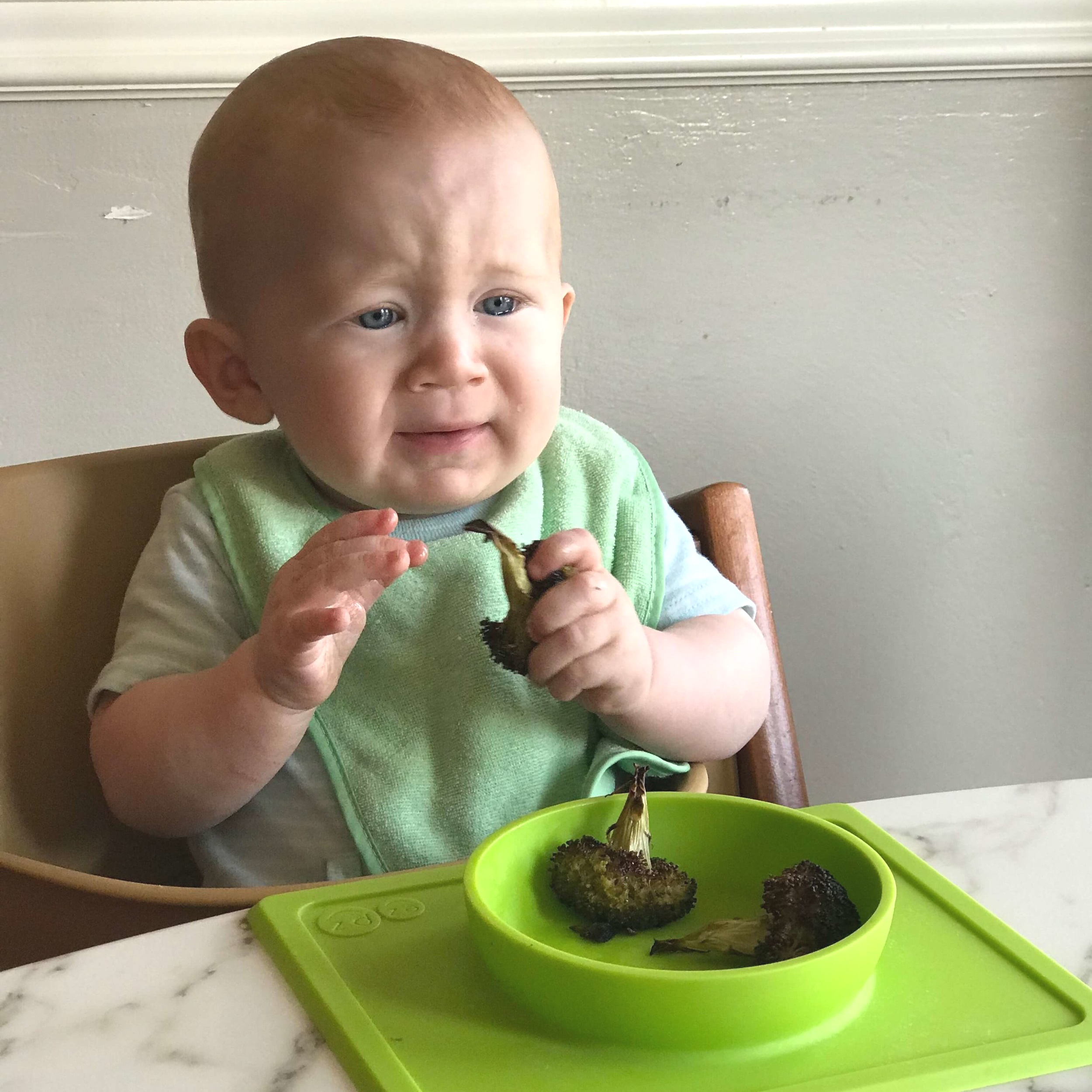 Finding pictures of constipated babies is no easy feat. Here's Gus who might be constipated…or just hungry :)