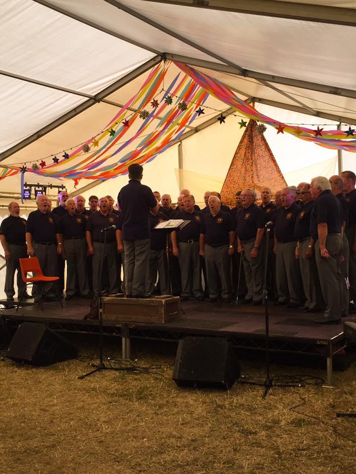 Northampton Male Voice Choir  at Northampton Umbrella Fair 2016  http://www.nmvc.co.uk/