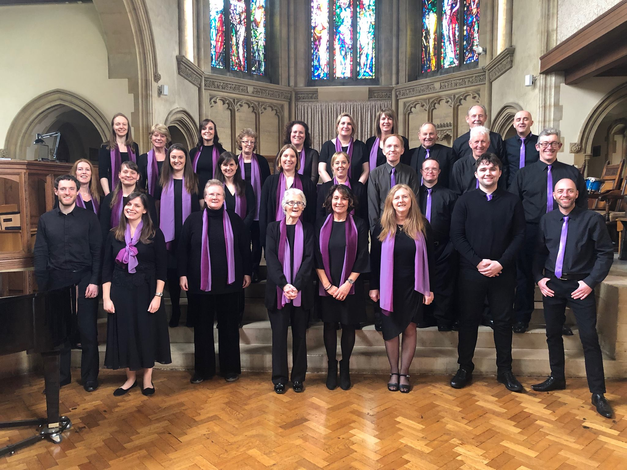Jessica and The Melody Choir following their success at the Oundle Festival of Music and Drama in April 2019