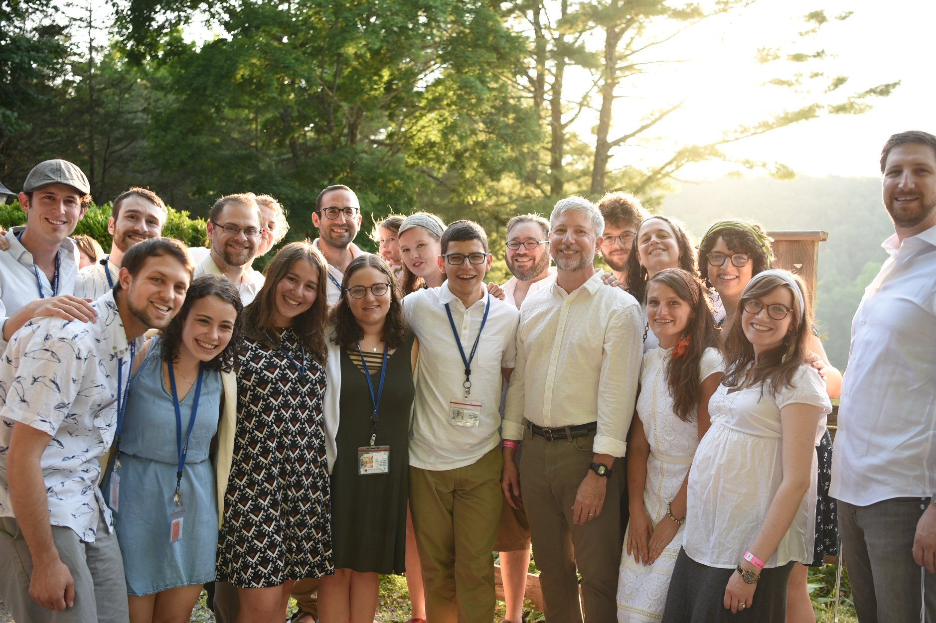 Rabbi Daniel Nevins (front row, 4th from right) at Camp Ramah in the Berkshires
