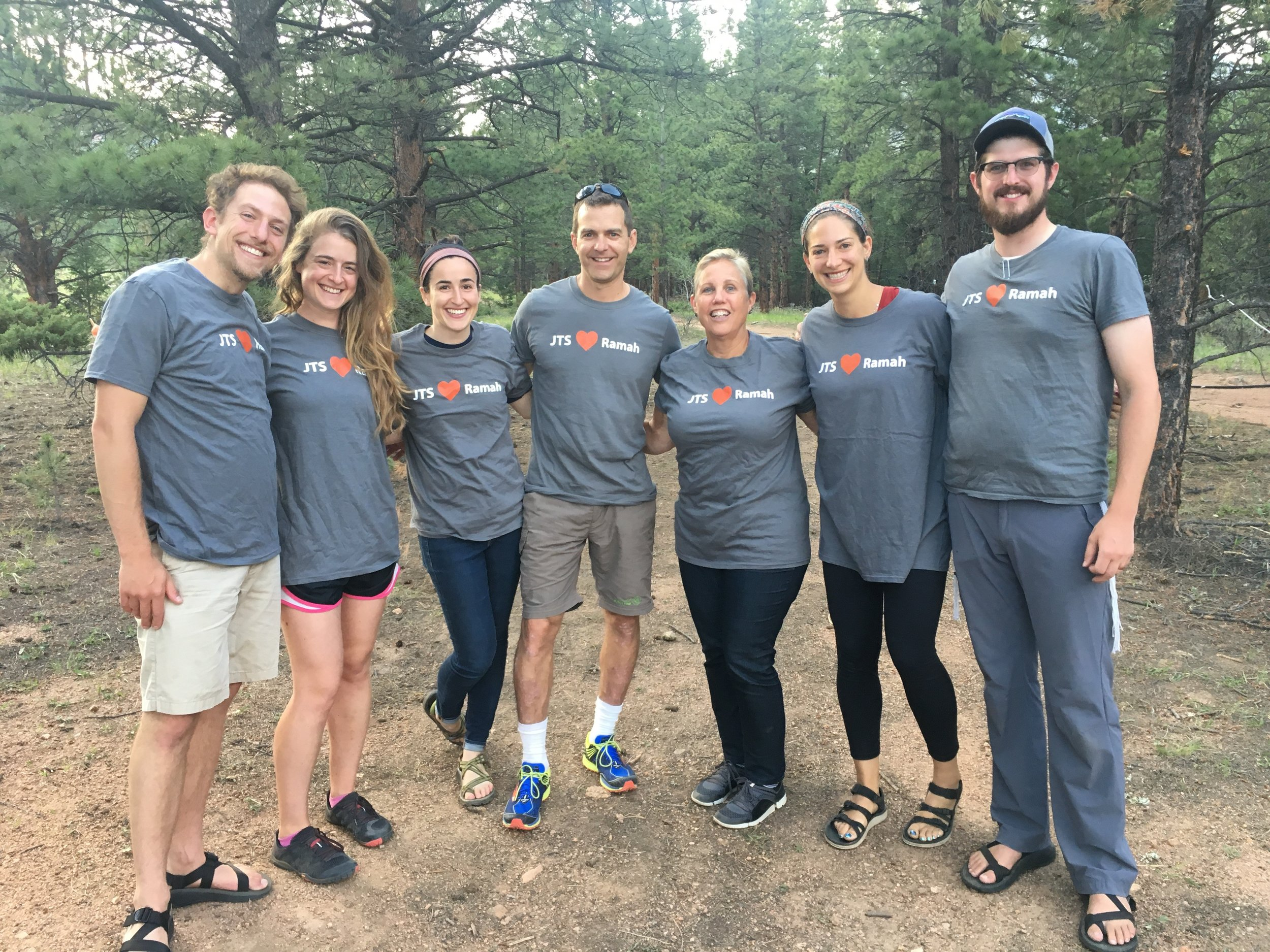 Cantor Nancy Abramson (third from right) at Ramah in the Rockies with JTS students and alumni