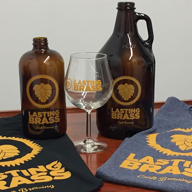 Our shirts, growlers, and glassware have arrived. #ctbeer #craftbeer #oakville #lastingbrass