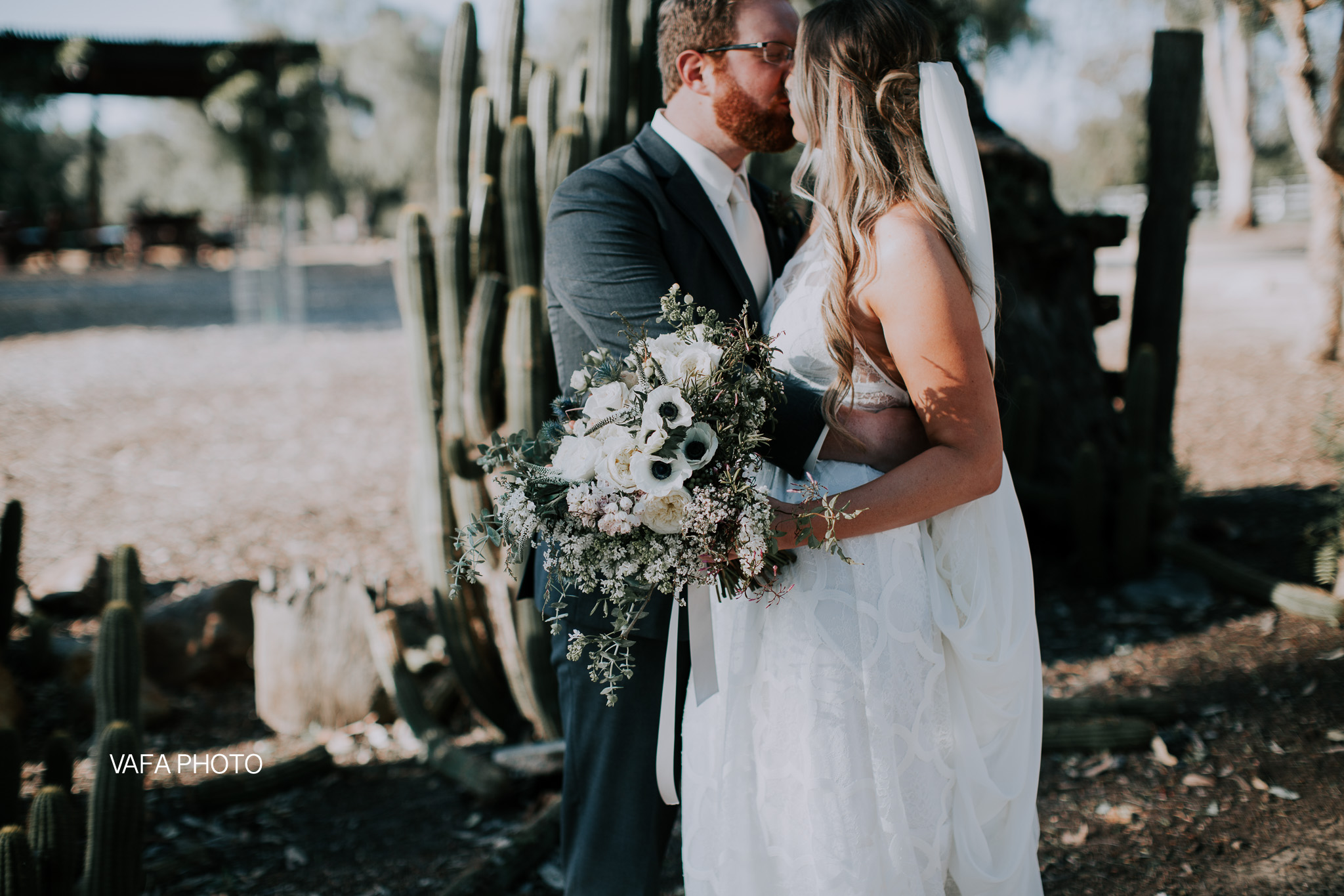 """""""My favorite moment from our wedding day was after the ceremony when everyone was at the cocktail hour. Mike and I got to be alone for a few moments before the reception began. We got to decompress a bit and privately celebrate what we had just done. """""""