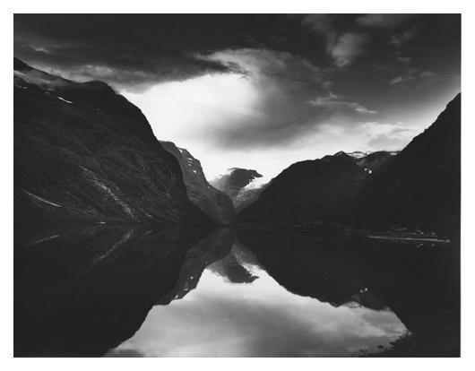Dark Clouds over Fjord