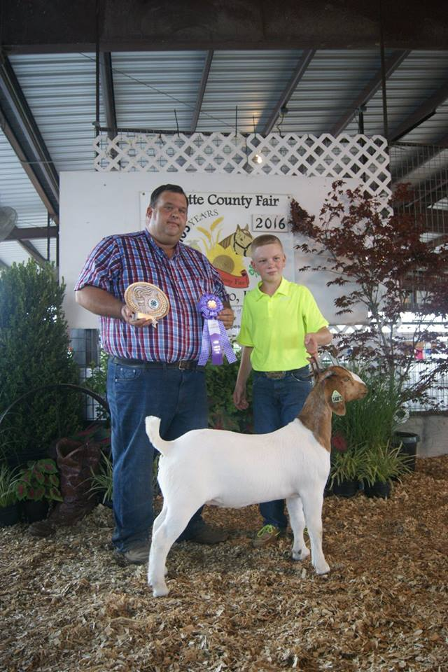 2016 Grand Champion Breeding Doe Labette County Fair