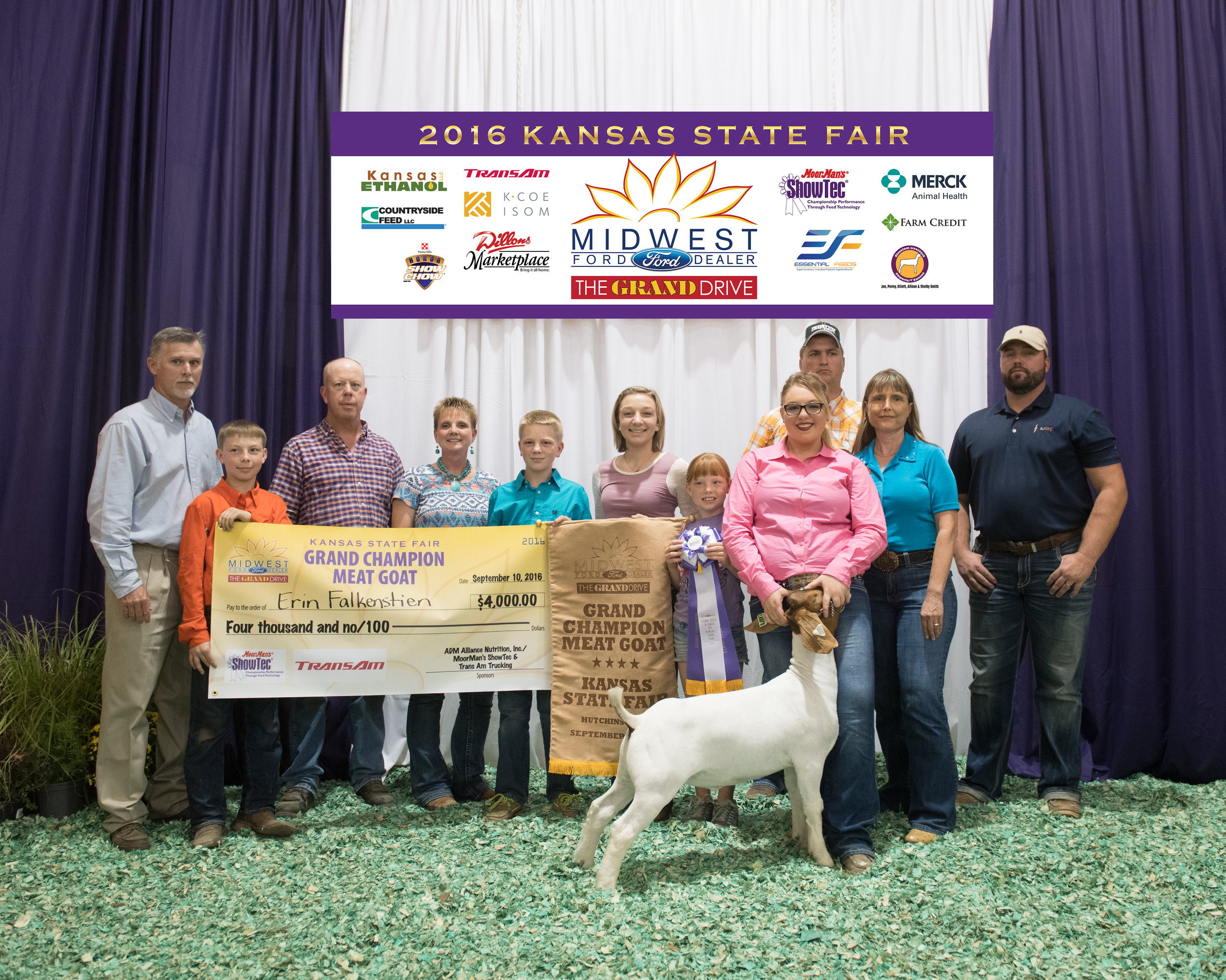 2016 Kansas State Fair Grand Champion Raised by Shrank Show Goats. We are using these genetics in our 2017 kidd crop.