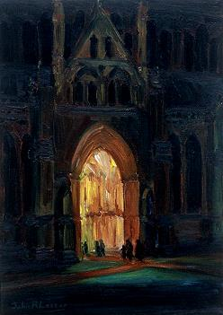 Going to Evensong. SOLD
