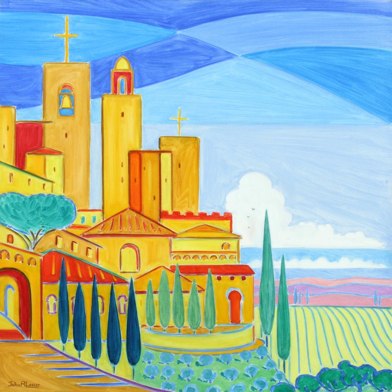 san Gimignano. Oil on Canvas, 50 x 50cm. NFS