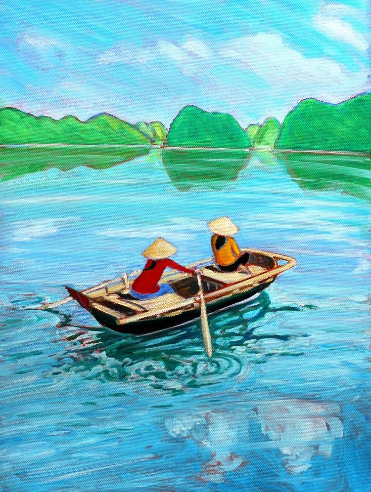 Little Fishing Boat, Ha Long Bay