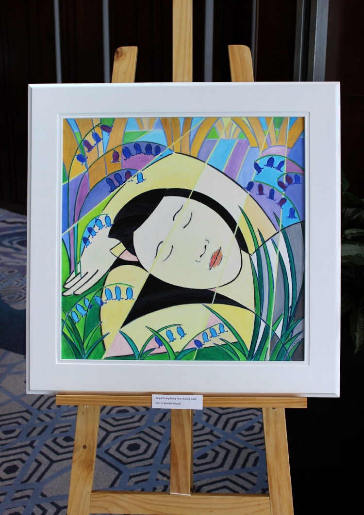SOLD. Girl in Bluebell Wood