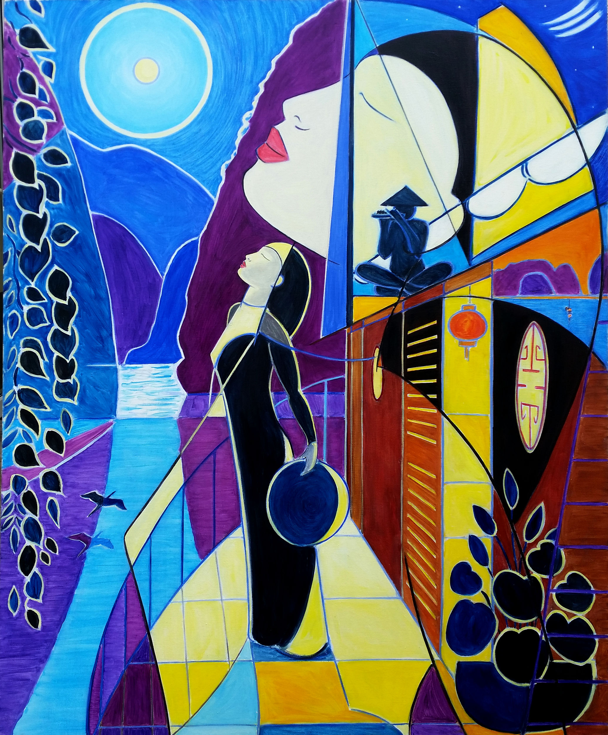 Moonlight Dreams - Oil on Canvas, 100 x 120cm