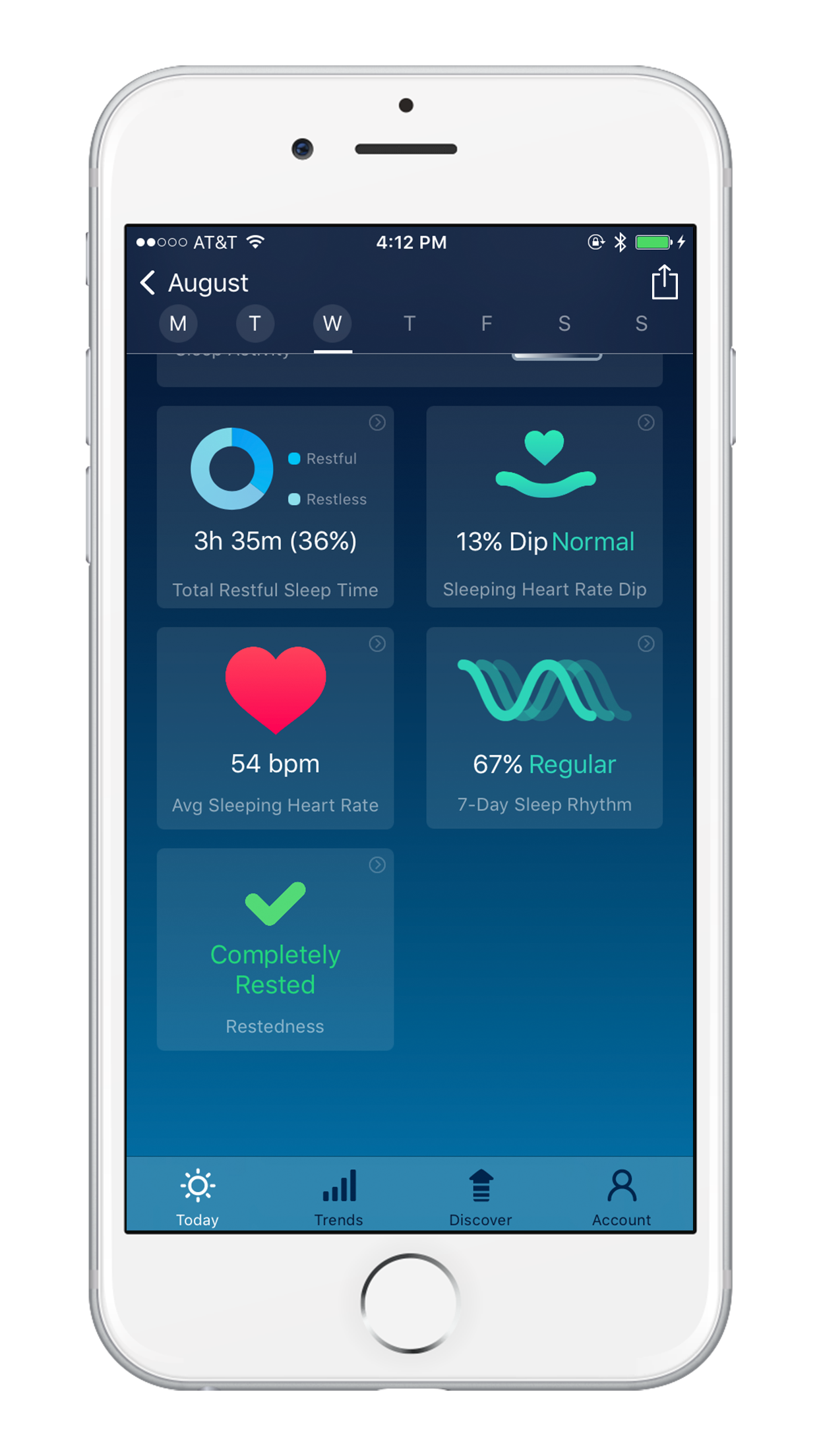 Sleep Watch Version 3 by Bodymatter on iPhone