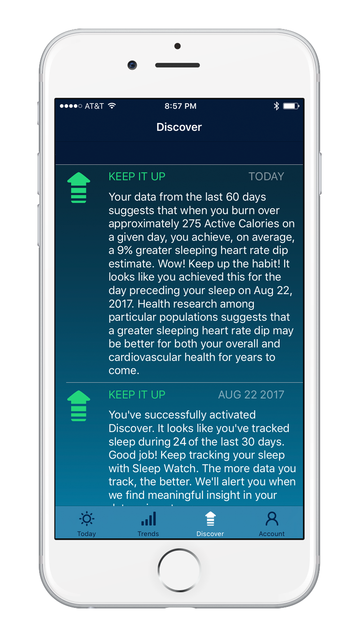 Sleep Watch Version 3 by Bodymatter on iPhone Discover AI