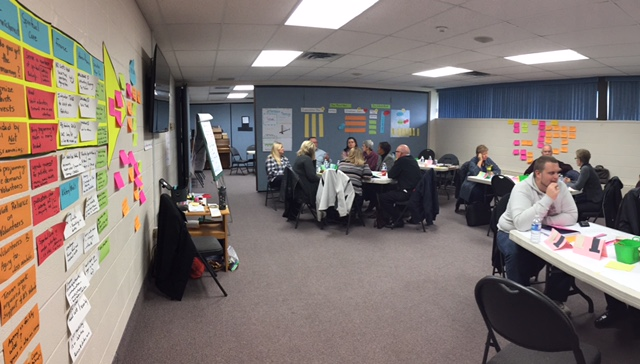 Facilitating a strategic planning workshop with leaders in long-term care.  Impact: A renewed focus on high-level priorities and organizational performance measures. Re-alignment of vision and mission with priorities.