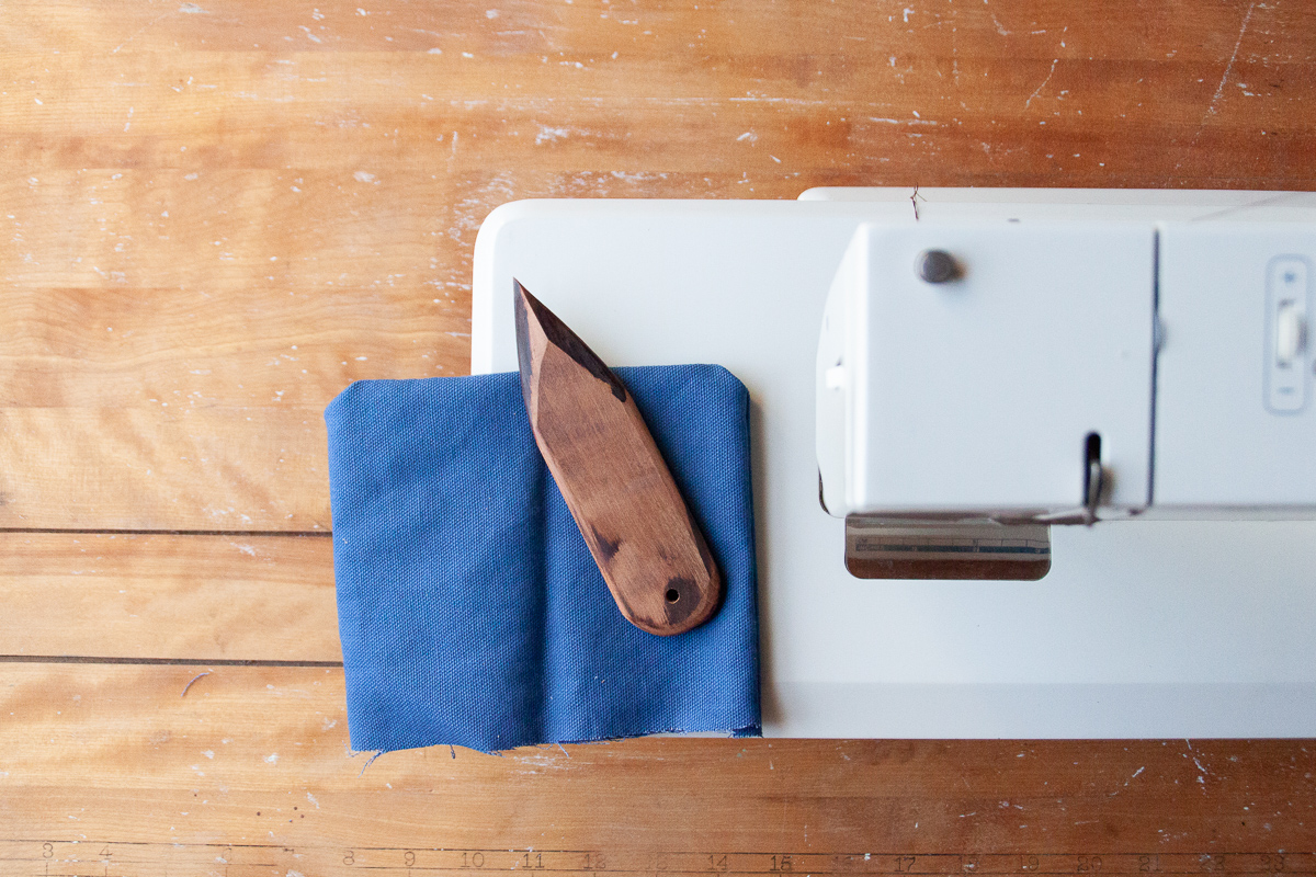 Handmade wooden point turners for sewing - Sarah Kirsten