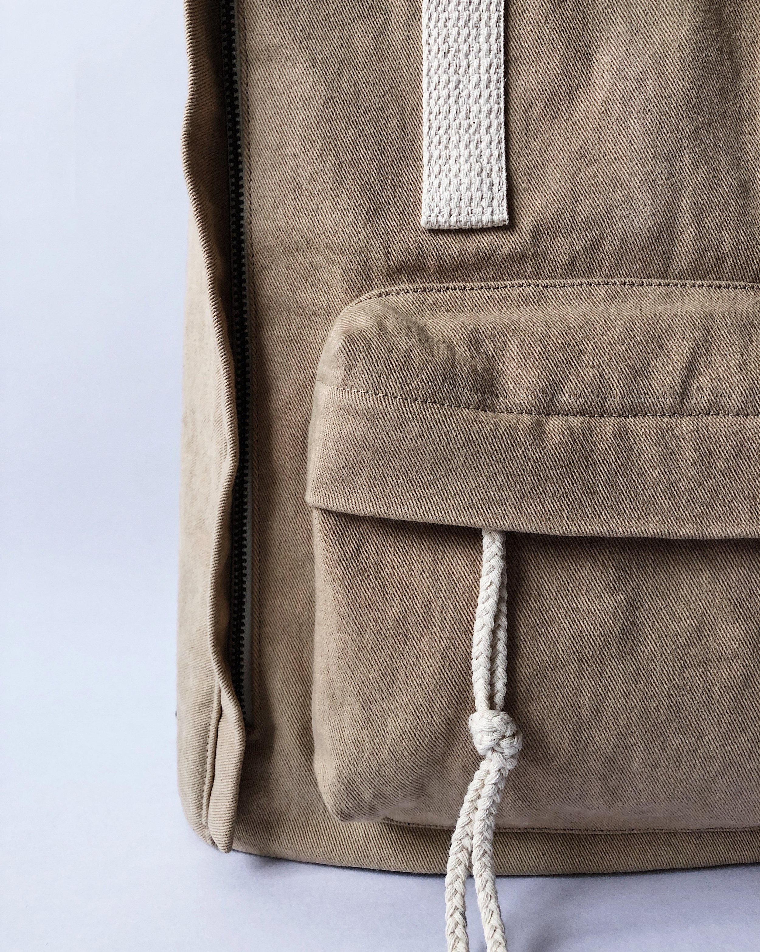 Raspberry Rucksack - Endearing Everyday Blog making her own backpack