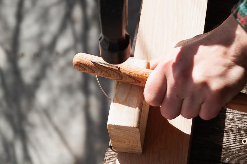 Handmade wooden spool stands - Sarah Kirsten