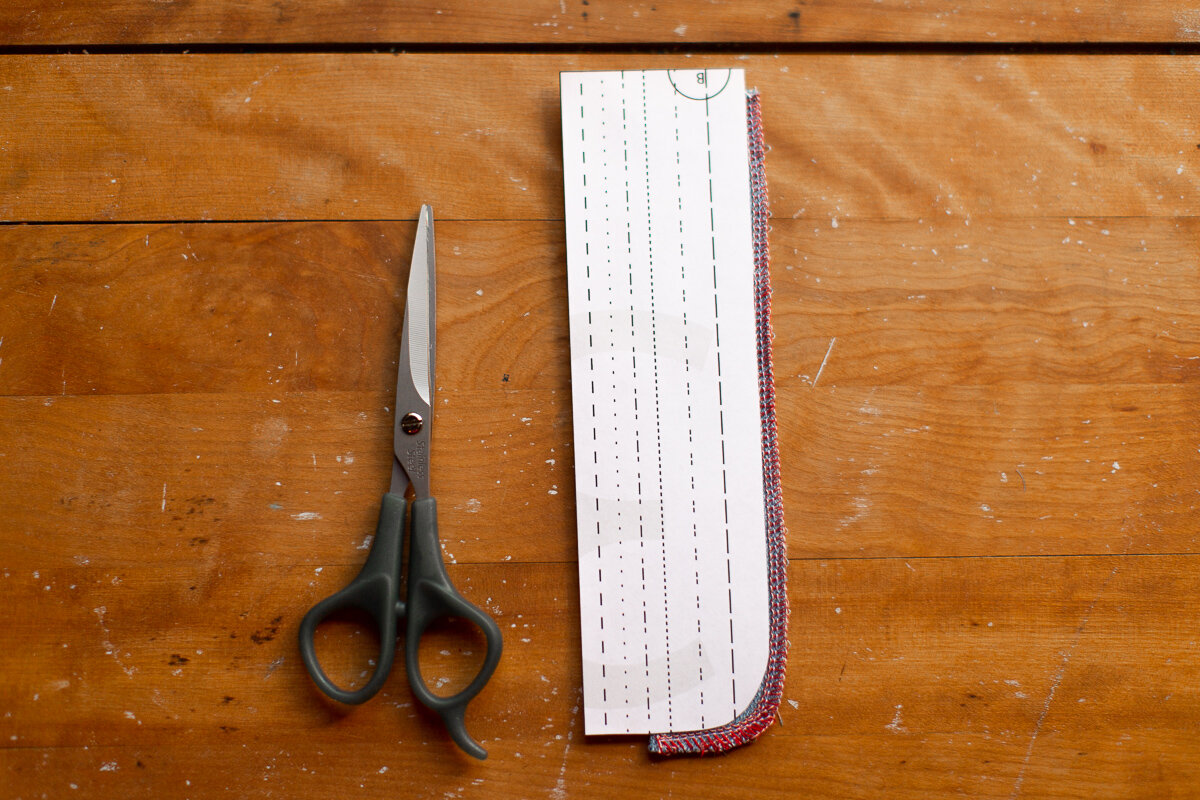 How to sew beautiful top stitching on the button fly - Sarah Kirsten