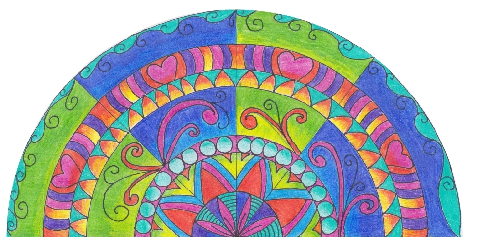 Women's Wellness Planner - Hand-drawn Mandala