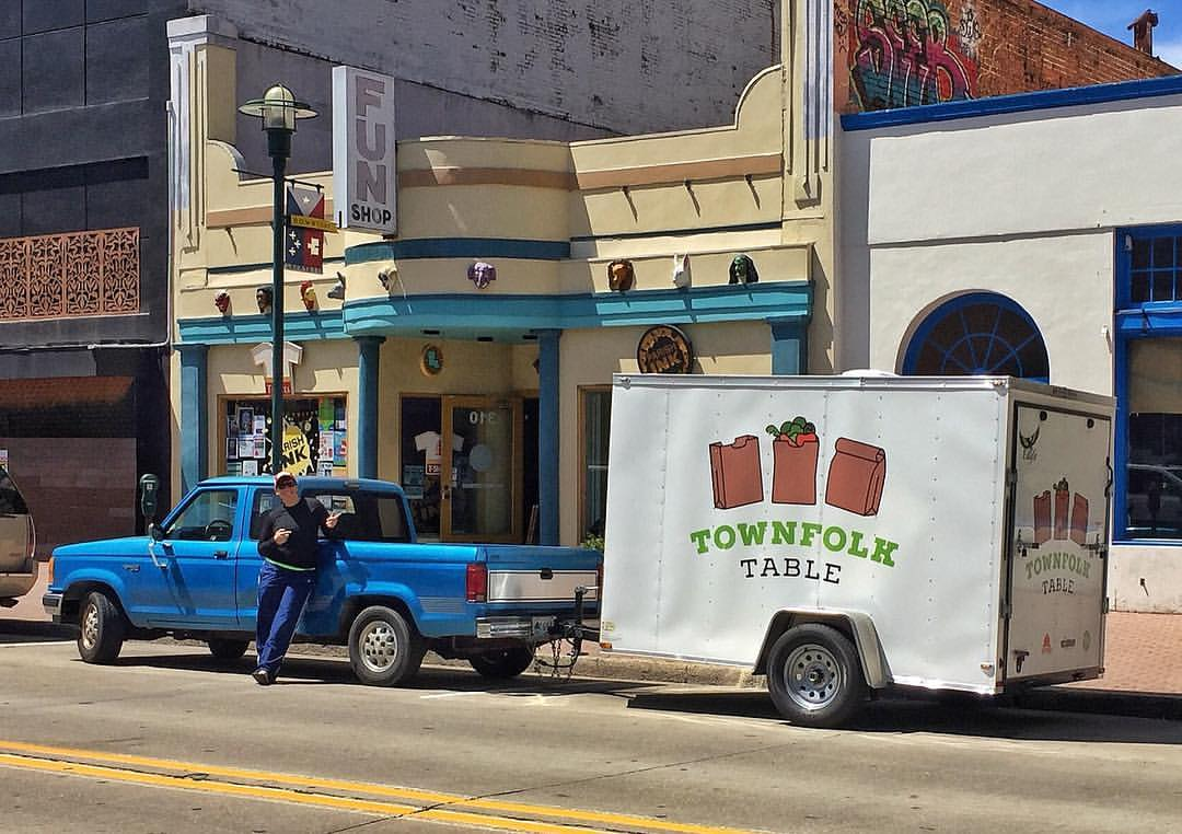 Ski and our new TownFolk Table trailer! Credit: Ski Witkovski