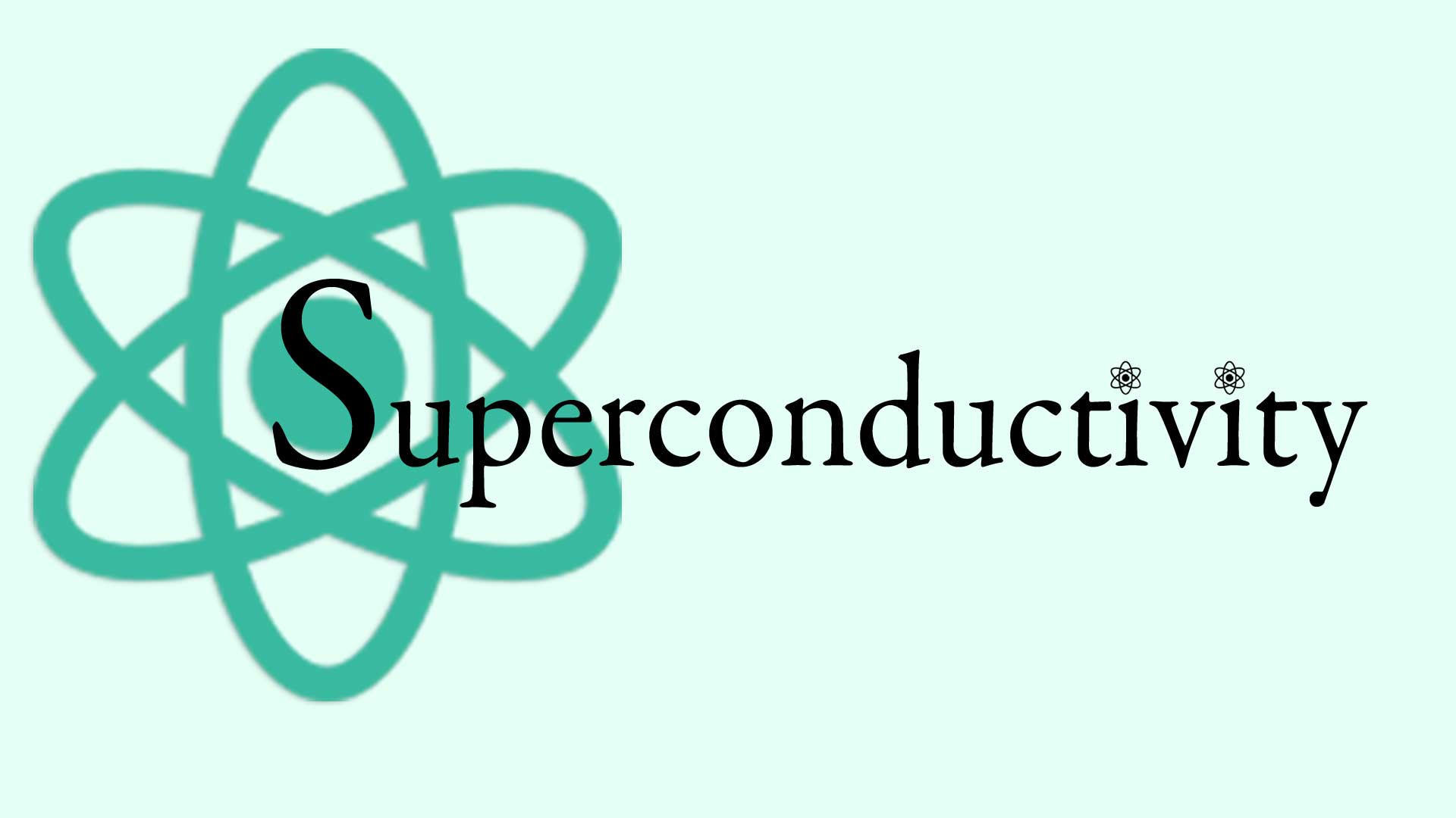 Superconductivity Graphic with Atom