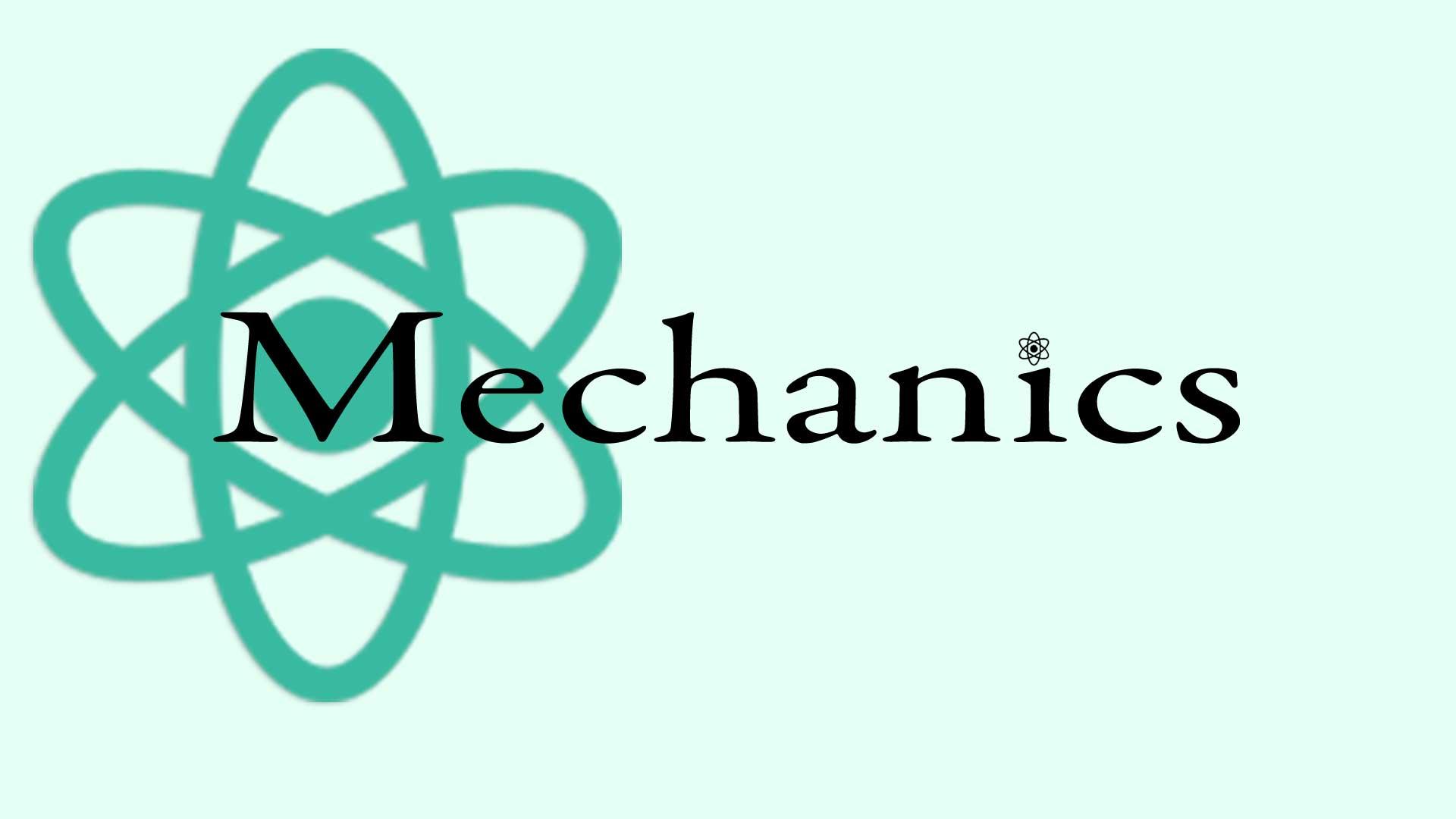 Mechanics Graphic with Atom
