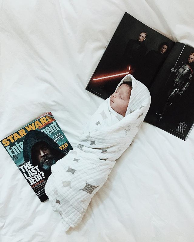 If you're going to become a Jedi Knight and save the galaxy, waking up would be a good start 🗡💫 #starwars #jedi #twindad #rumiandriver