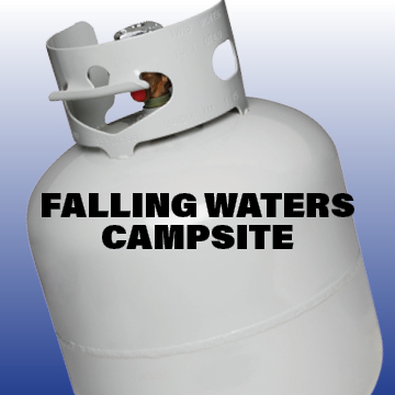 Camp Store with an extensive selection of RV parts, supplies and accessories as well as firewood, ice, drinks, ice cream and miscellaneous food items. Propane Station with trained personnel to fill tanks   -Click image to view current offers-