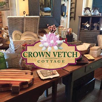 No matter where you call home, you can enjoy the comfortable charm of cottage life - and Crown Vetch Cottage can help provide everything you need! We have an ever-changing selection of beautiful home décor, gifts, antiques, collectibles, decorative accessories, clothing, and jewelry.   -Click image to view current offers-