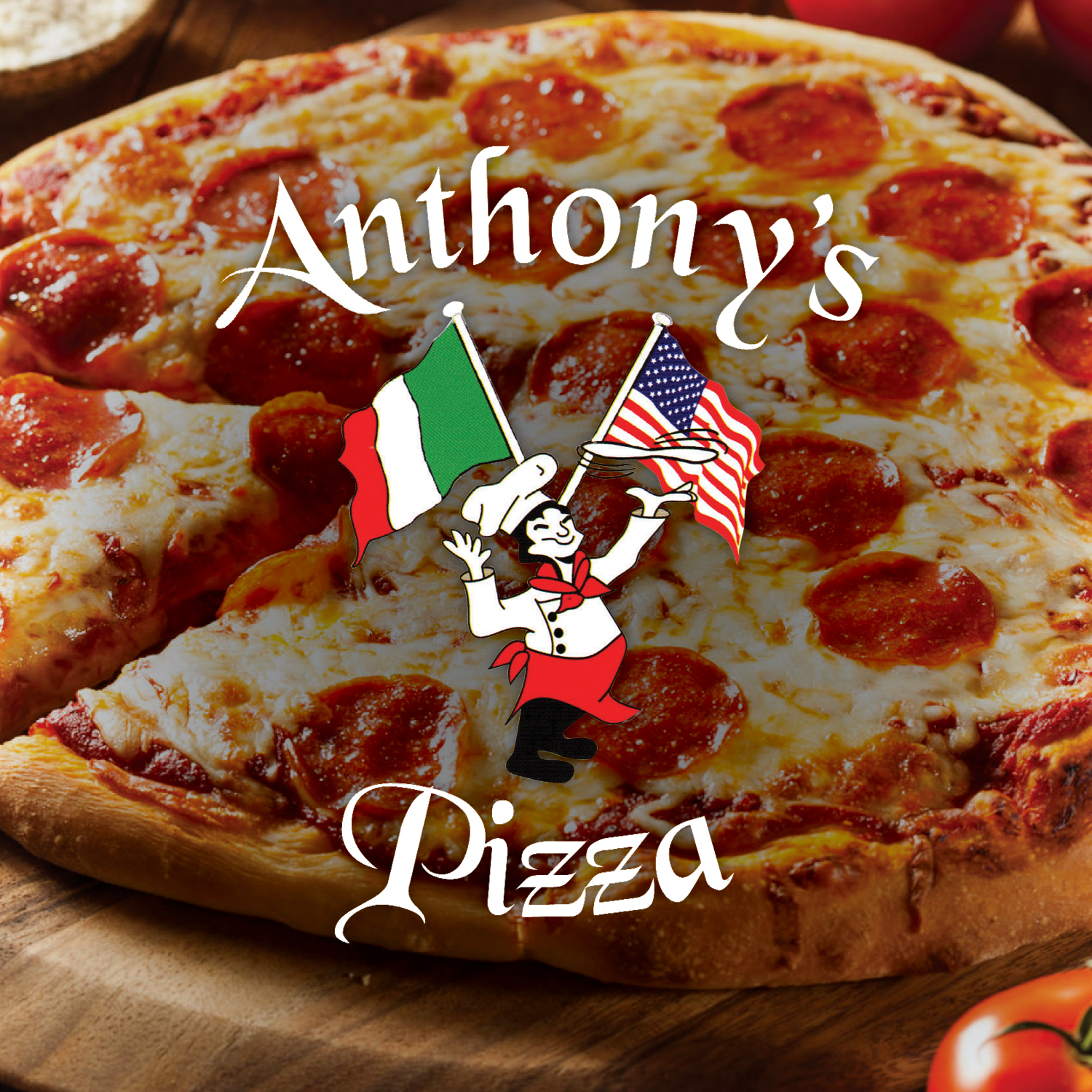 We offer both delivery and carry out options or you can dine in and enjoy your meal with us. Here at Anthony's Nobody Dough's It Better!   -Click image to view current offers-