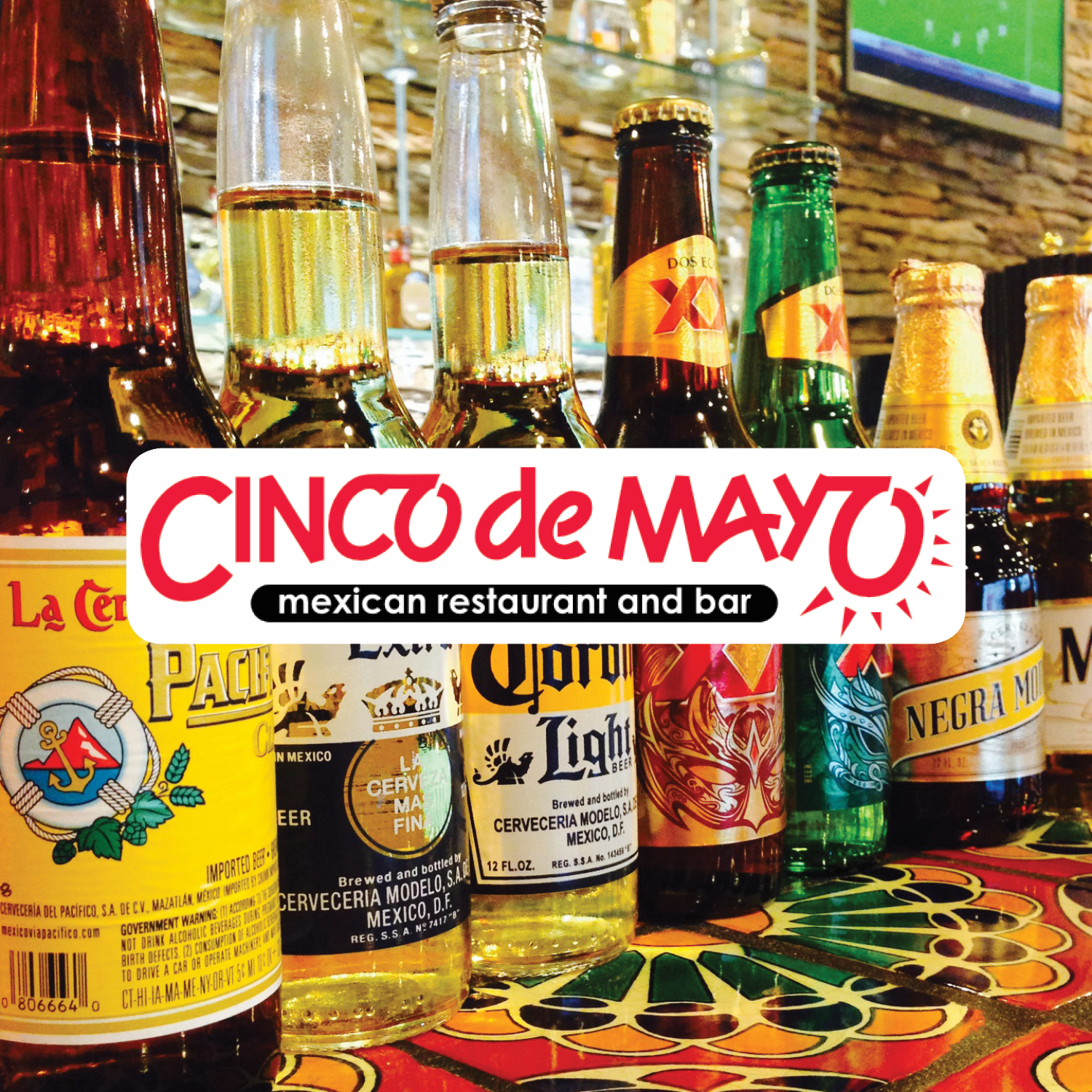 Here at Cinco De Mayo we offer fresh mexican food with a full service tequila bar to help you relax and enjoy your meal! We also offer freshly made gaucamole right at your table upon request!    -Click image to view current offers-  .