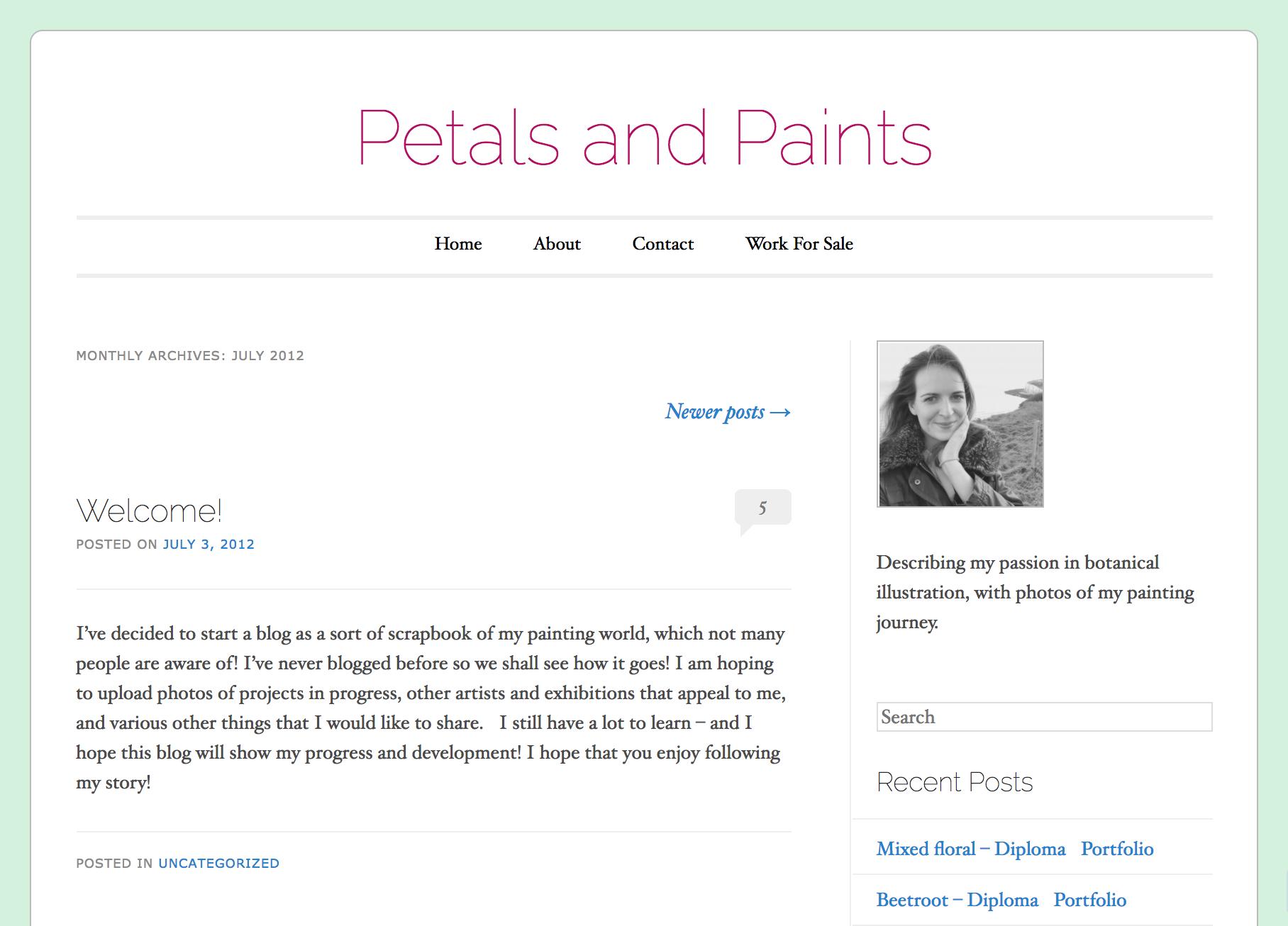 Petals & Paints, circa 2012.