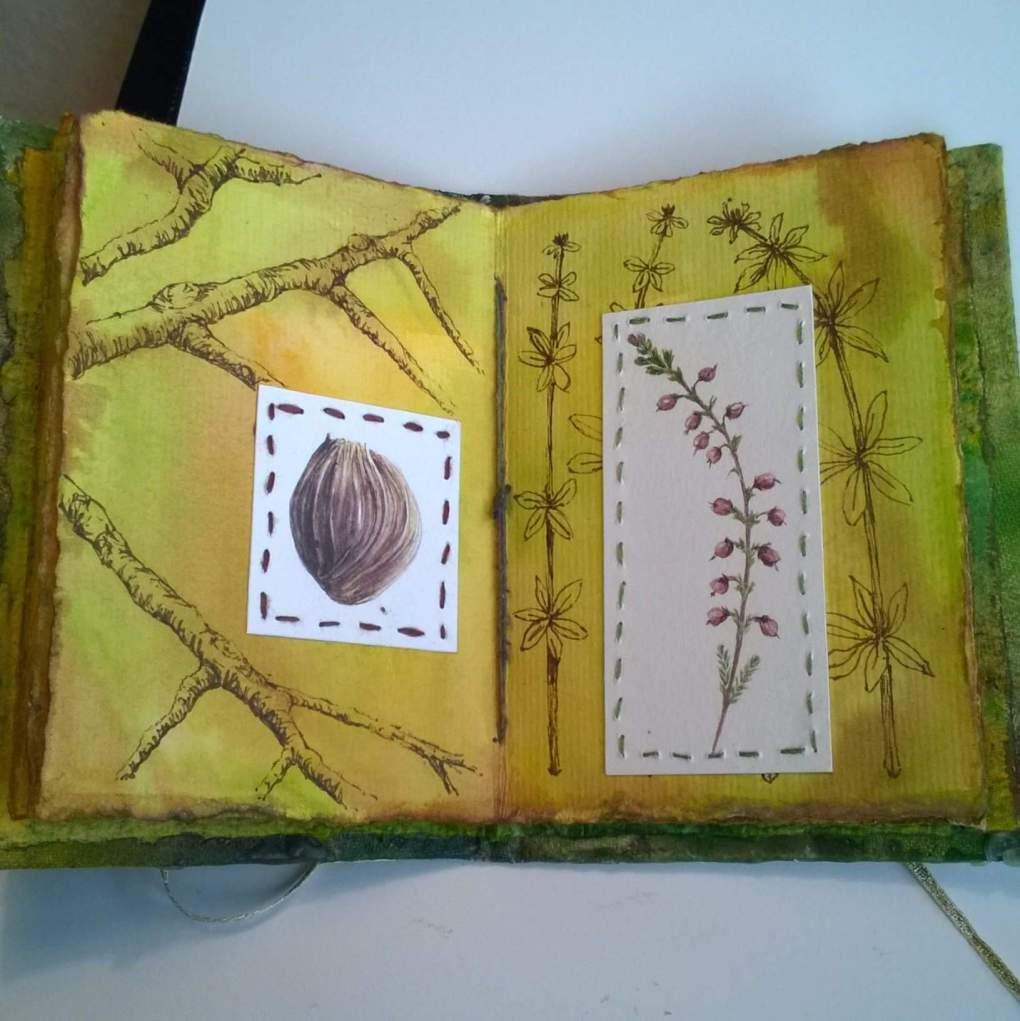 One of Amber's beautiful handmade artist's books.