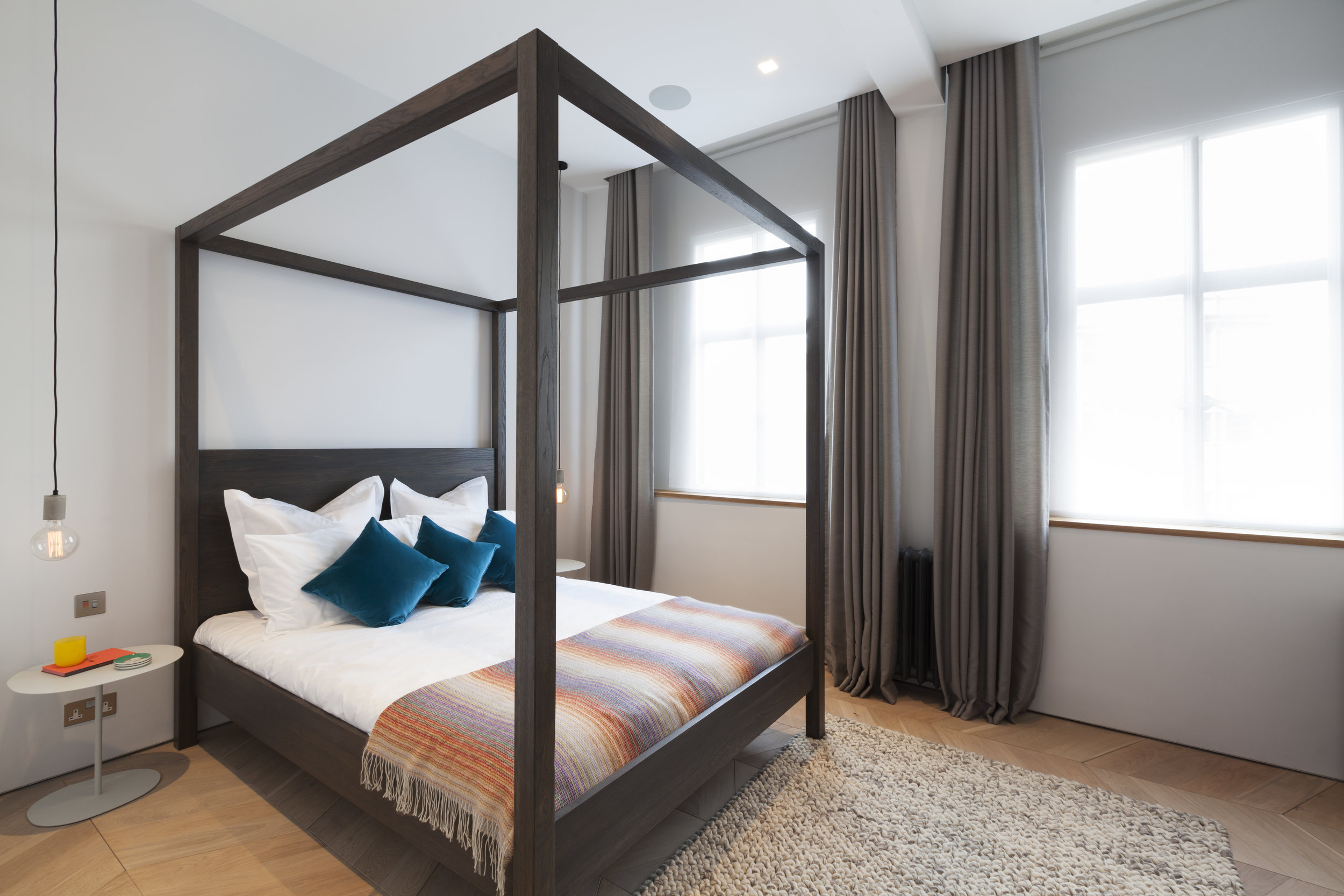 Modern bedroom at Chiltern Court