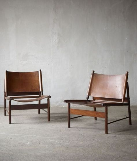 A pair of mid-century design chairs