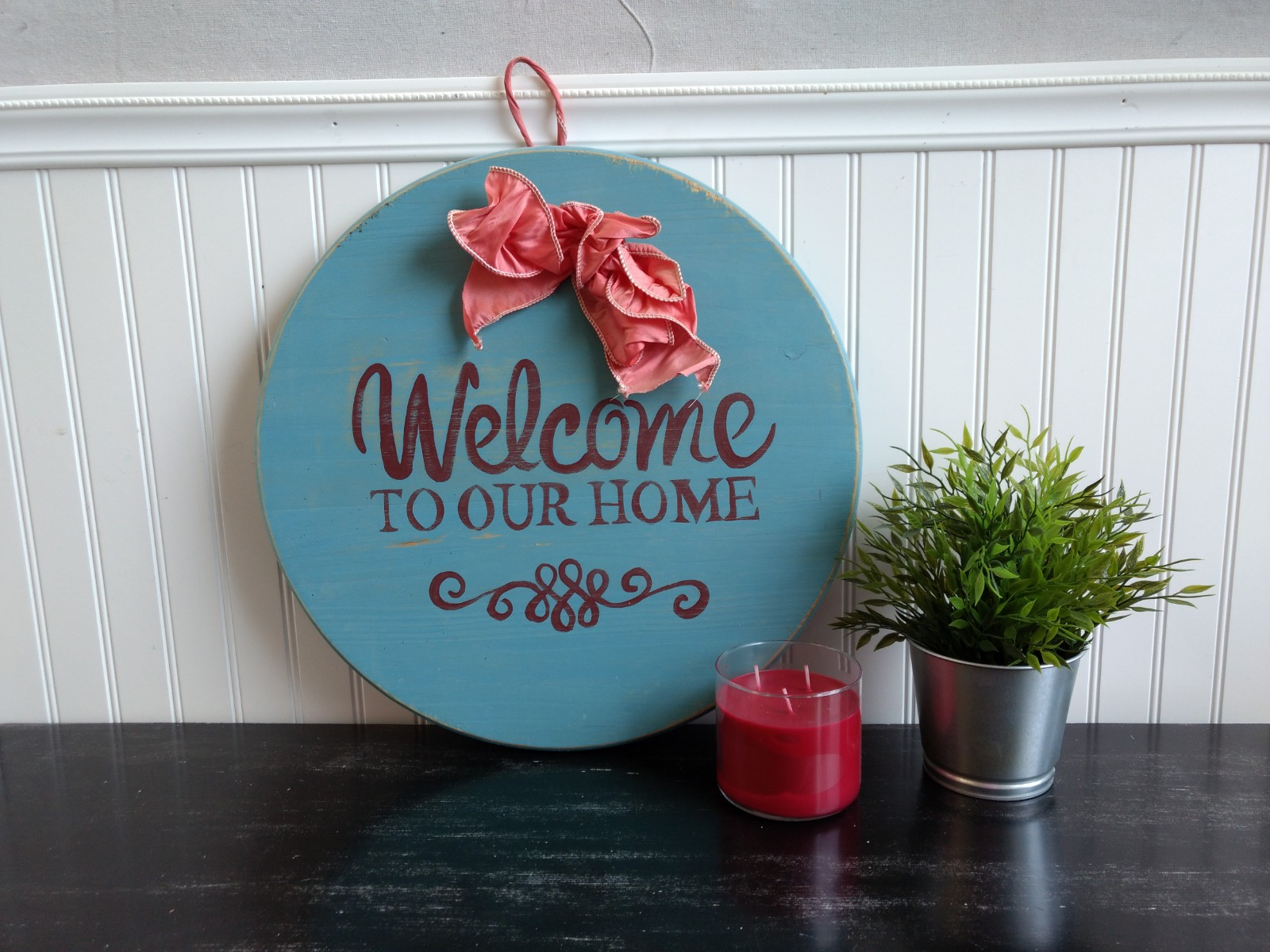 Round Welcome to Our Home