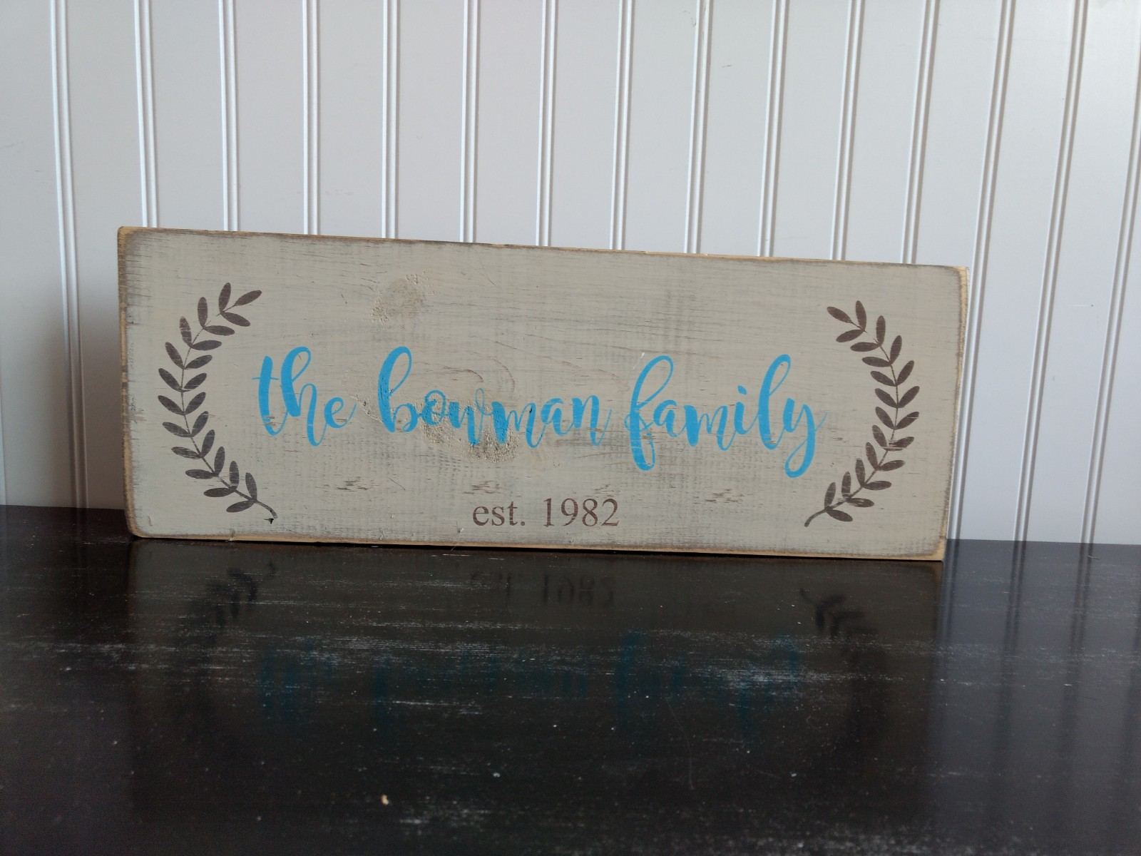 Small Family Name Sign