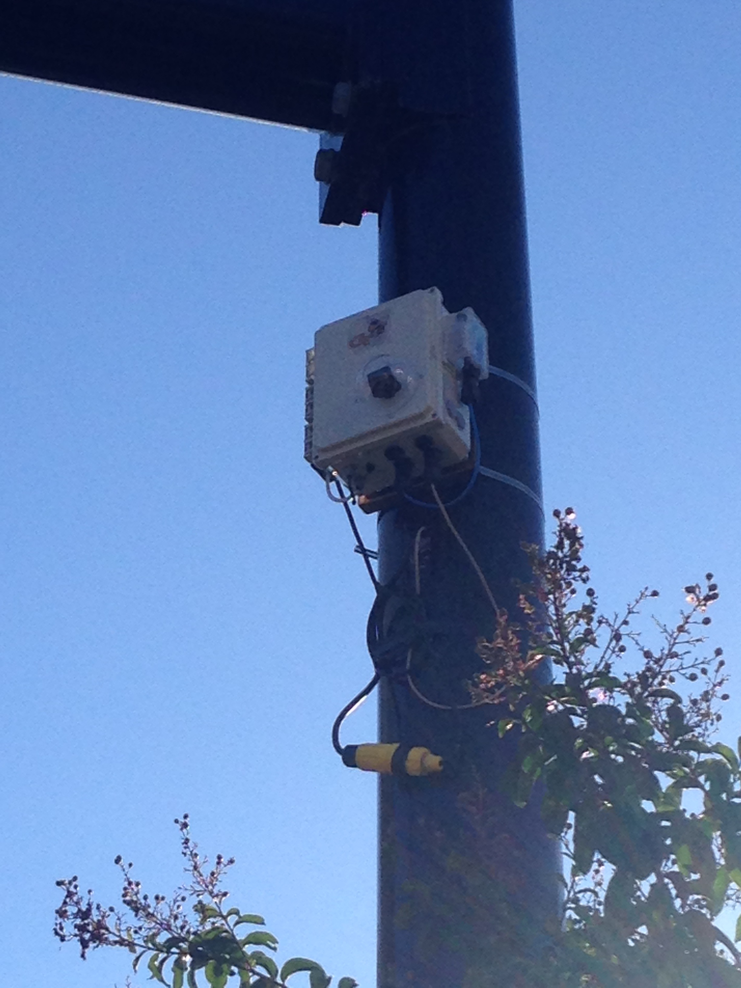 One of the sensor boxes installed along North Avenue