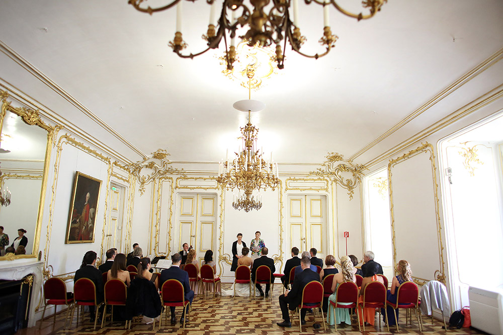 American luxury wedding in Vienna Austria at Schonbrunn Palace and Palais Coburg