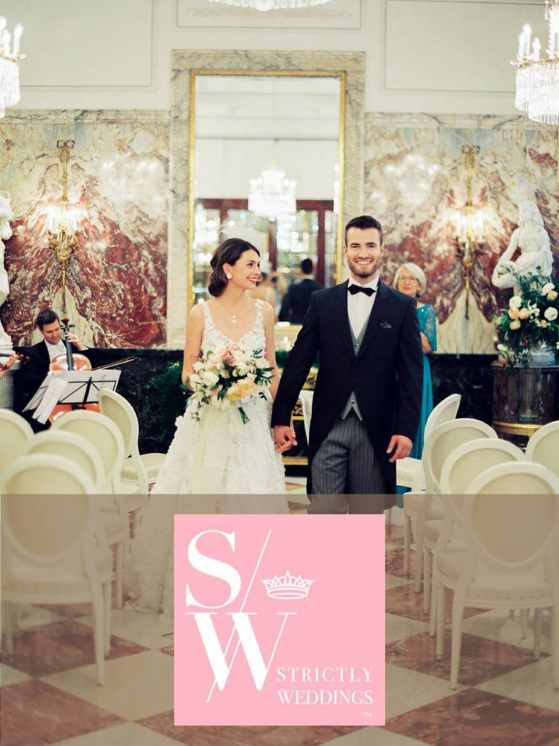 Vienna Austria wedding inspiration photo shoot at Hotel Sacher with an Eva Poleschinski bridal gown by luxury destination wedding planner France Austria Italy