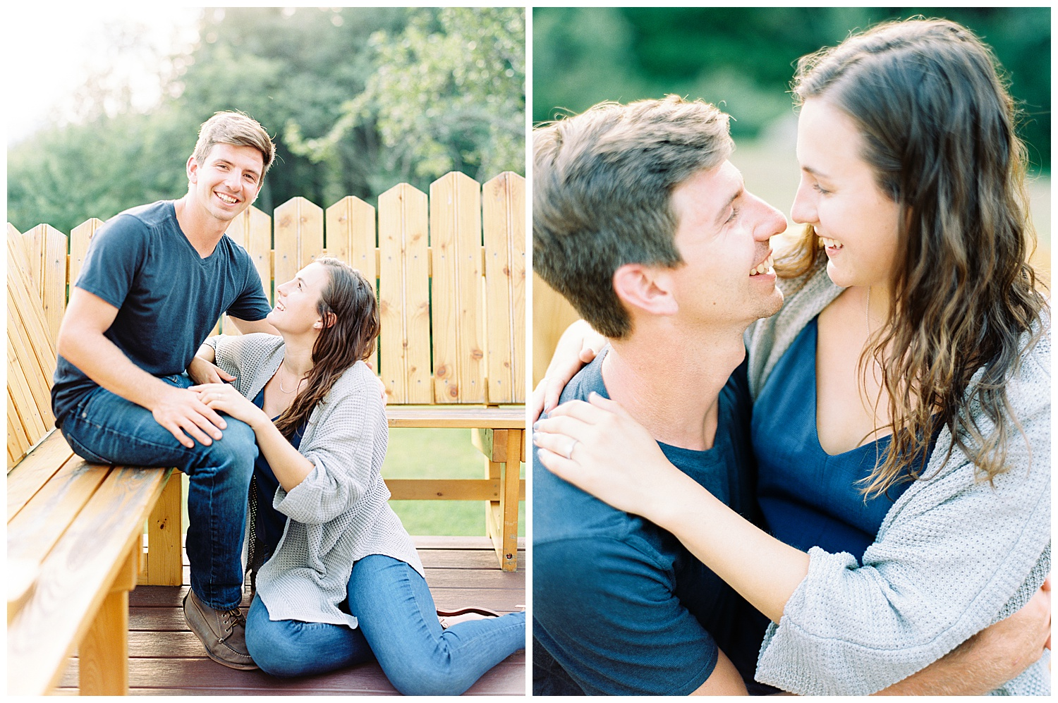 backyard engagement sesssion